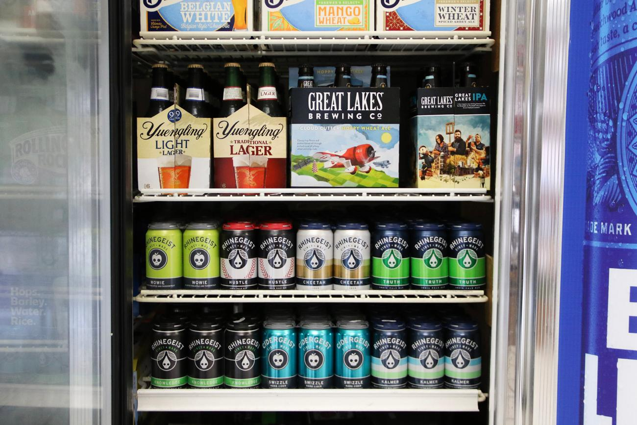 A wide selection of local, regional, and national beers are carried at Sunshine's. / Image: Ronny Salerno // Published: 4.25.19