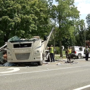 Crash in Galesburg area leaves Winnebago split in half