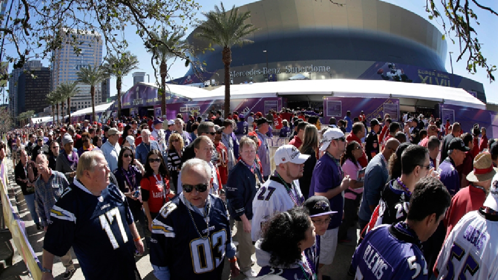 FILE- This Feb. 3, 2013 file photo made with a fisheye lens shows fans lined up to enter the Superdome before the NFL Super Bowl XLVII football game between the San Francisco 49ers and the Baltimore Ravens, in New Orleans. The Big Easy, Naptown or the Twin Cities. That's the choice facing NFL owners when they vote Tuesday, May 20, 2014, on the site of the next Super Bowl, choosing between New Orleans, Indianapolis and Minneapolis. Each city has hosted the big game, albeit just once for Indy and Minny. (AP Photo/Gene Puskar, File)