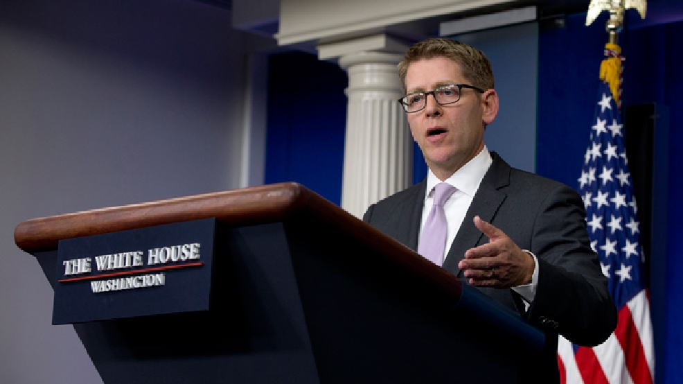 White House press secretary Jay Carney speaks during his daily news briefing at the White House in Washington, Thursday, May 29, 2014. (AP Photo/Carolyn Kaster)