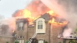 Mobile-Fire Rescue battles raging house fire on New Castle Drive