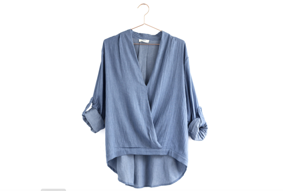 Draped Chambray Top from Moorea Seal Collection ($56). Find on mooreaseal.com. (Image: Moorea Seal)