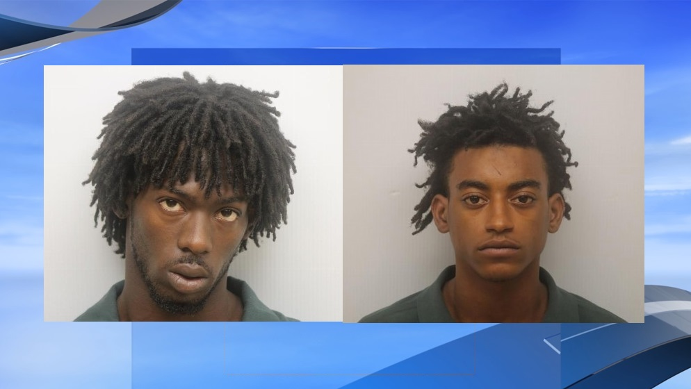 James Hampton and Dwayne Abney are on trial this week in connection with the October 2015 Carver Village triple murder. (SCMPD photos. WPDE background)<p></p>