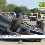 Four injured in I-29 rollover crash