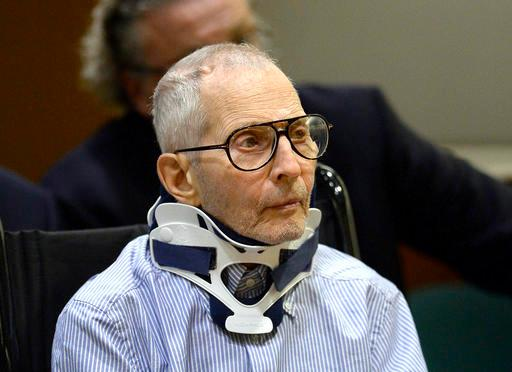 FILE - In this Nov. 7, 2016, file pool photo, real estate heir and documentary star Robert Durst sits during his arraignment at the Airport Branch Courthouse in Los Angeles. Los Angeles prosecutors say Durst is a danger to witnesses in his murder case. Prosecutors will ask a judge Friday, Jan. 6, 2017, to let them preserve testimony from several witnesses in case they get killed before any trial. (AP Photo/Reuters, Kevork Djansezian, Pool, File)