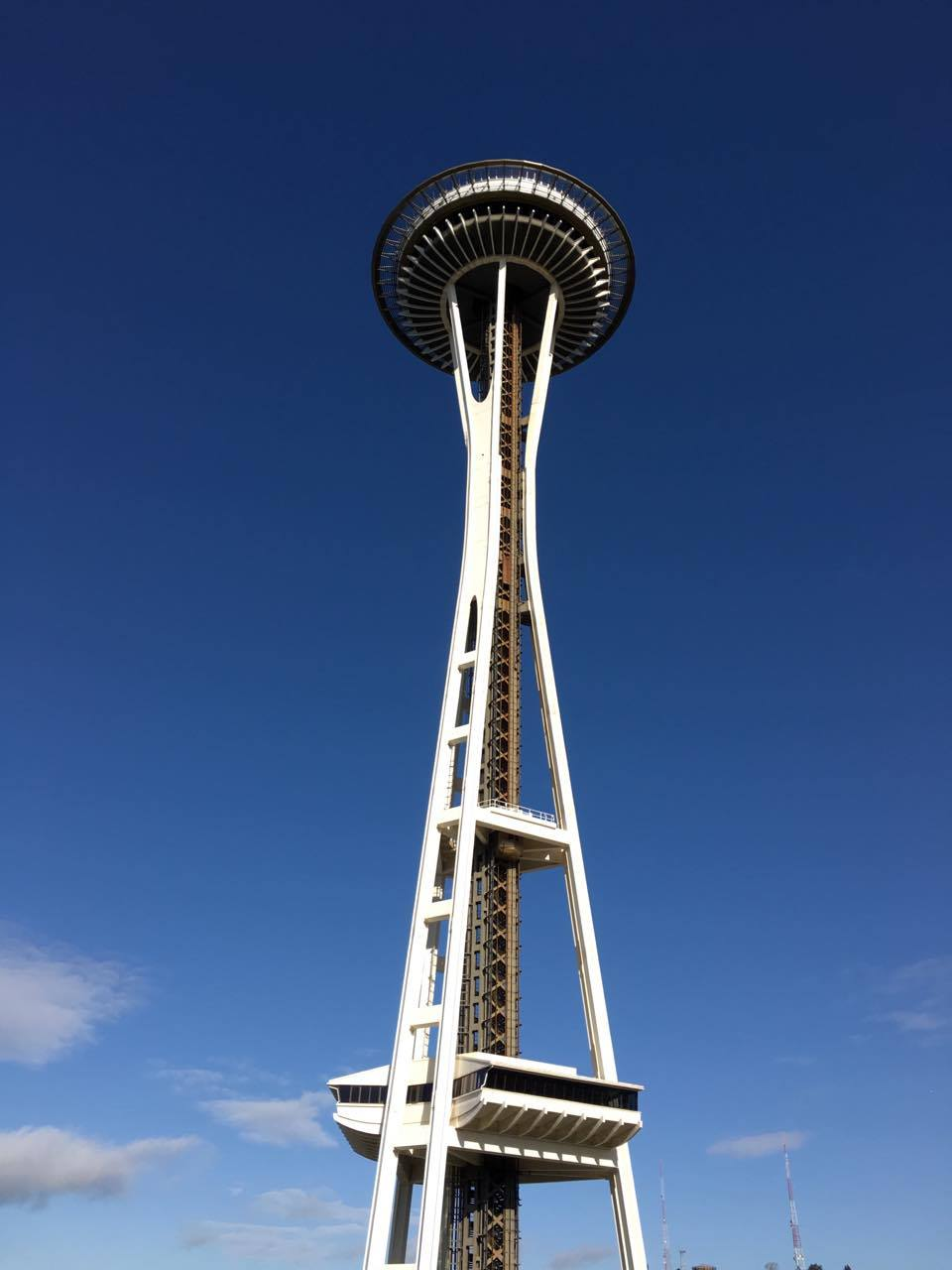 The Space Needle shines on a rare sunny day in Seattle on March 16, 2017. (KOMO Photo)