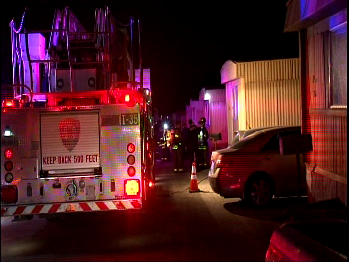 Fire destroys mobile home on 5700 block of South Horseshoe Bend. (SBG San Antonio)