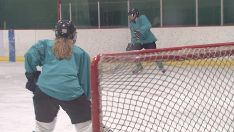 The Bay Area Ice Bears practice earlier this week.