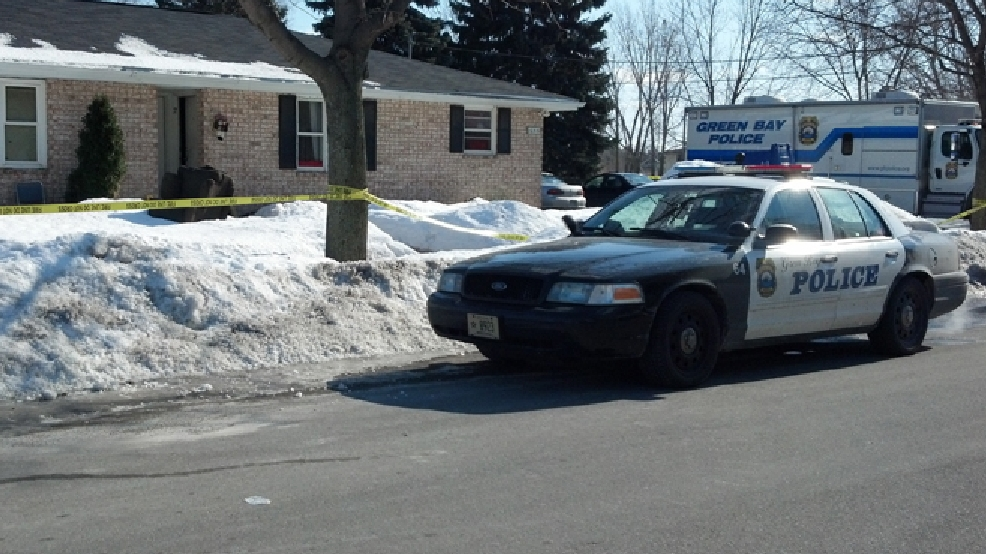 "Green Bay police investigate what they call a ""suspicious situation"" on the 1000 block of Bader St., Feb. 24, 2014. (WLUK/Don Steffens)"