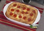 Thumbnail for pizza casserole Living with Amy recipe.