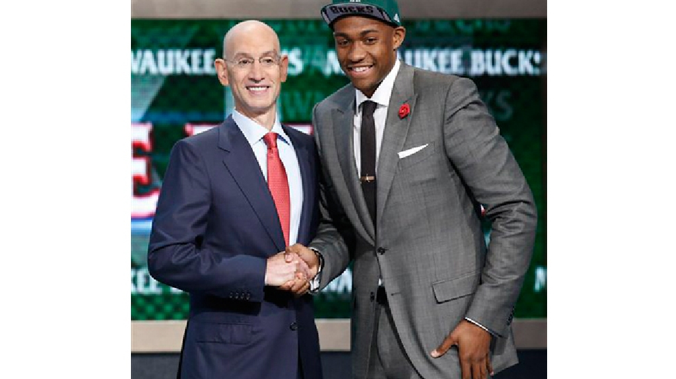 Jabari Parker NBA draft, Thursday, June 26, 2014, in New York. (AP Photo/Kathy Willens)