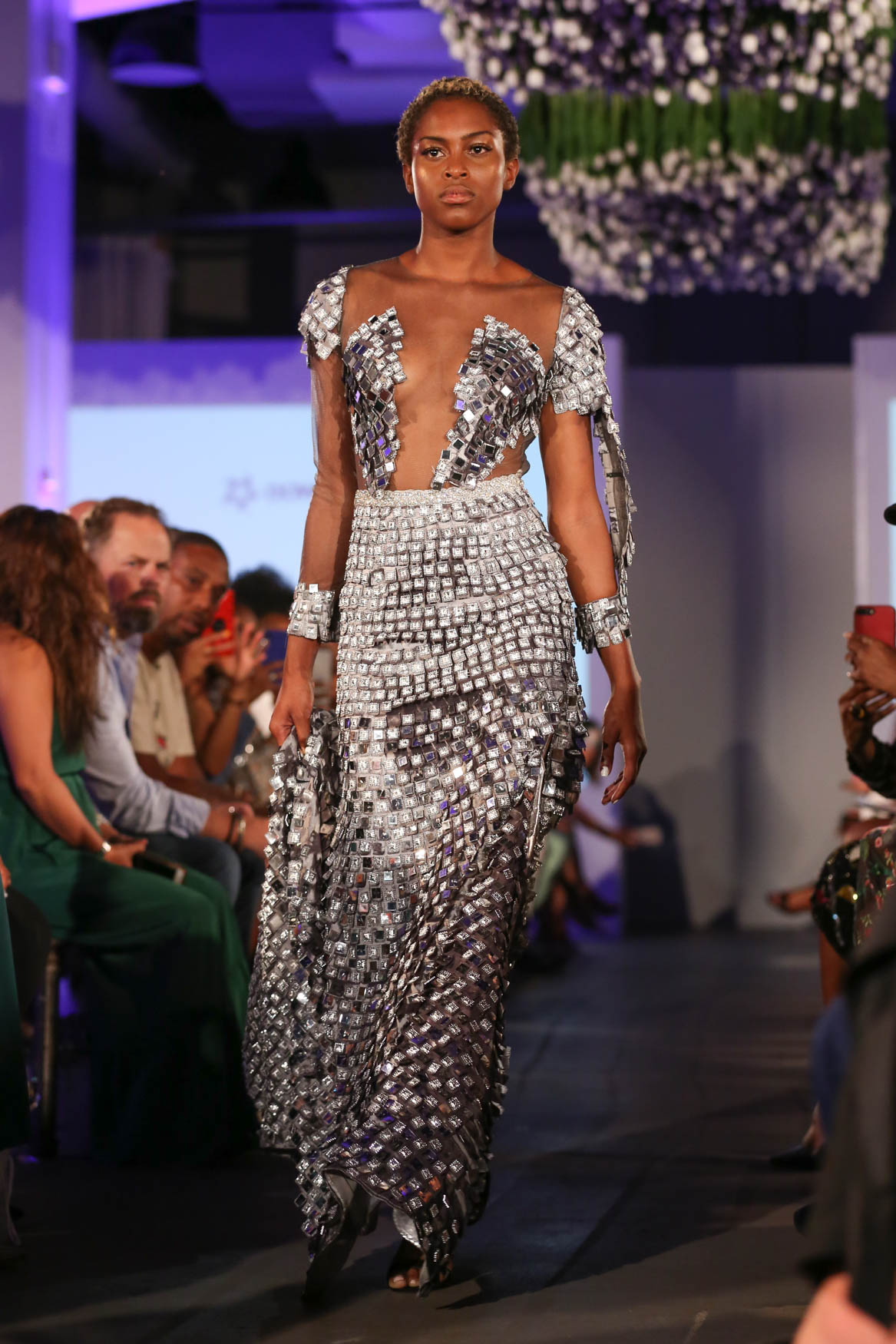 We spotted this look at the District of Fashion show and this dress is armored femininity to a tee. We like to think this is what a fashion-y Joan of Arc would wear.{ }(Amanda Andrade-Rhoades/DC Refined)