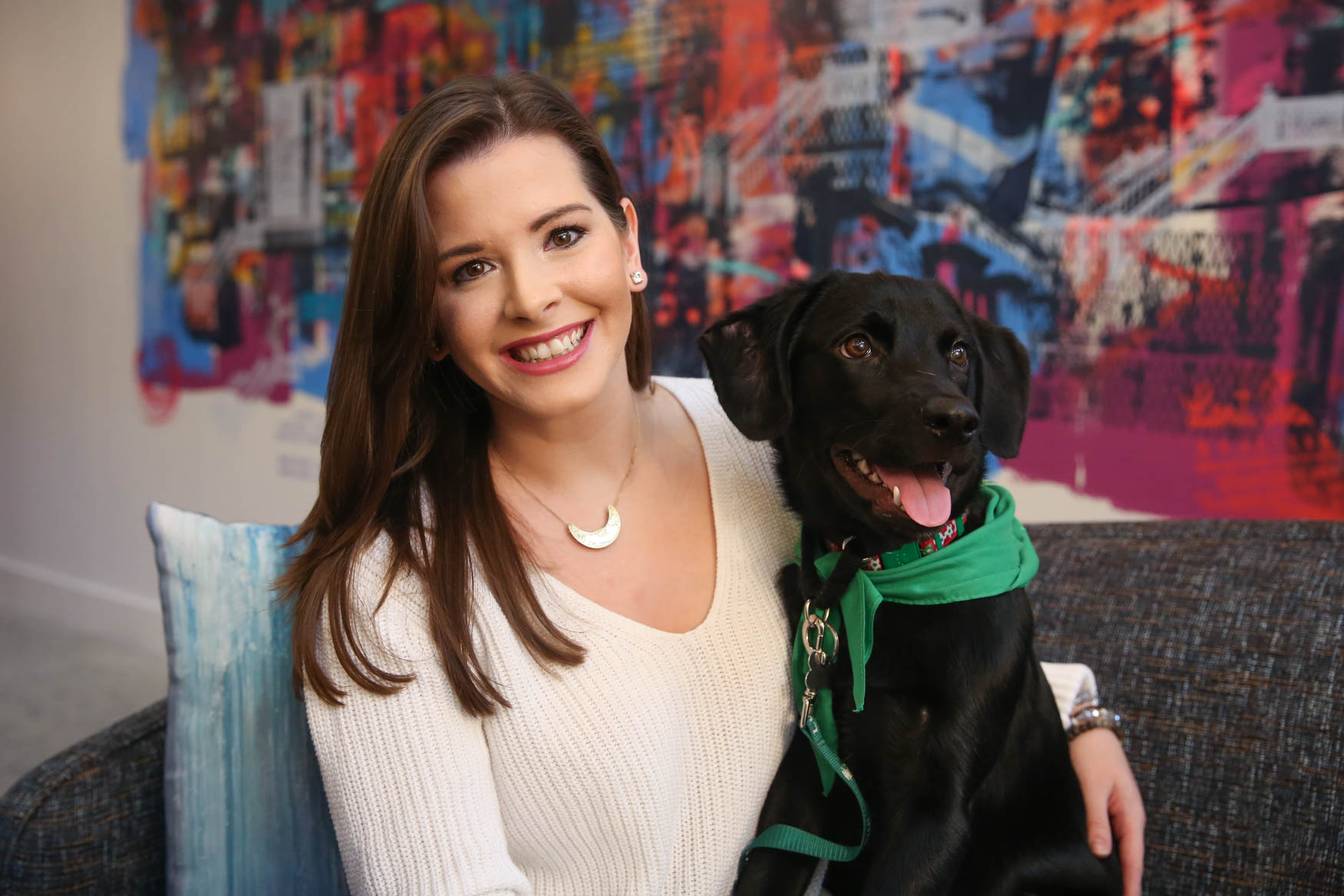 The good news is Waggs was ADOPTED right after our shoot! Photo location: Moxy Washington, D.C. Downtown (Image: Amanda Andrade-Rhoades/ DC Refined)