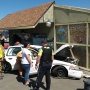 Man loses control of car in downtown Roseburg, crashes into cars, signs, parking meters