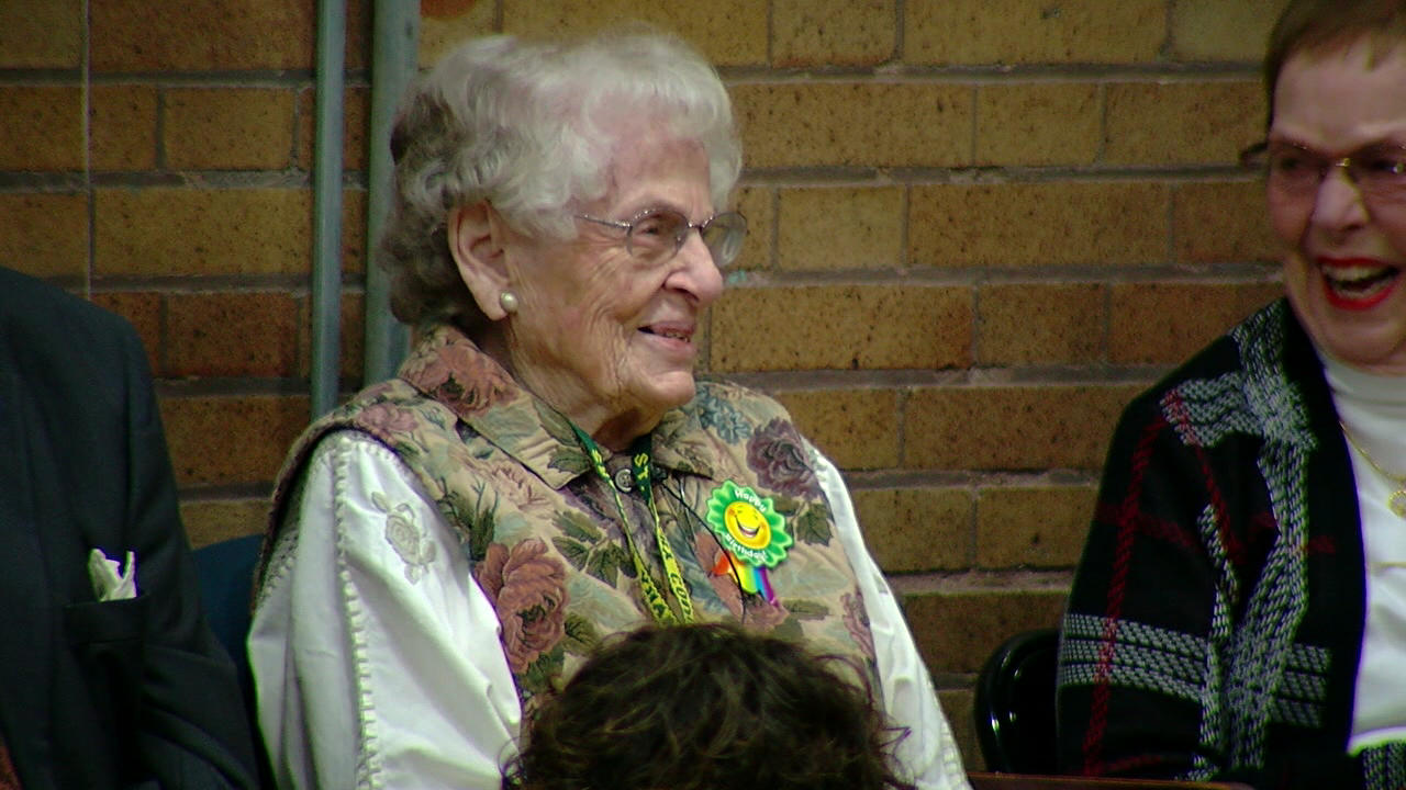 A long-time volunteer at St. Mary Grade School in Hyde Park got a big surprise for her 90th birthday. (WKRC)
