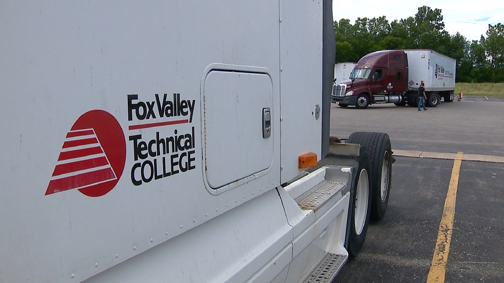 Training trucks at Fox Valley Technical College