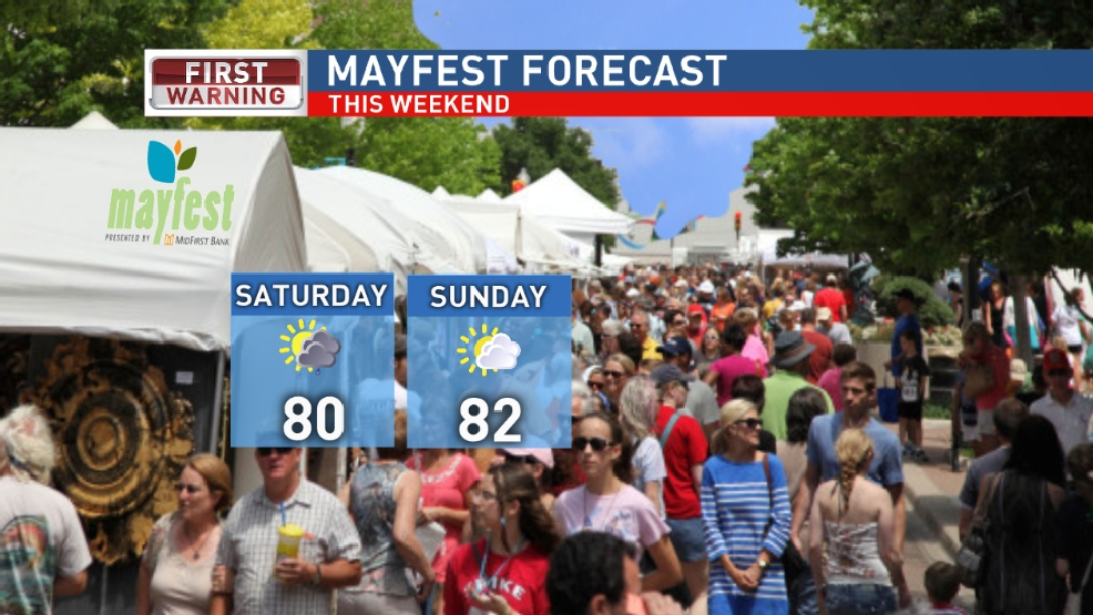 Mayfest forecast: Beautiful weekend ahead