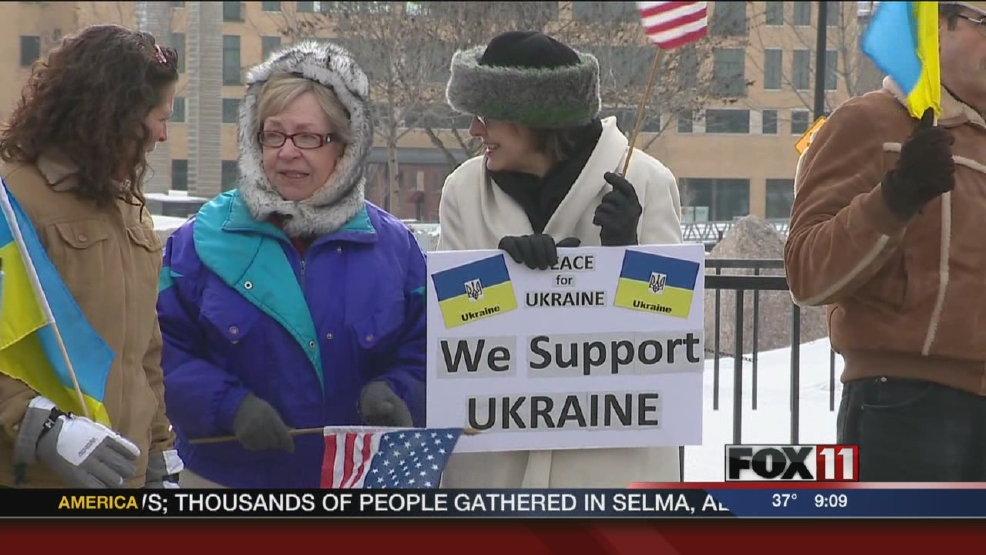 Local supporters stand up for Ukraine