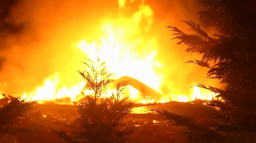 A propane tank explodes Jan. 12 and destroys a family's home in Coopers Creek. Metro 911 dispatchers are being praised for their quick action to save the life of the family who lived there. (WCHS/WVAH)<p></p>