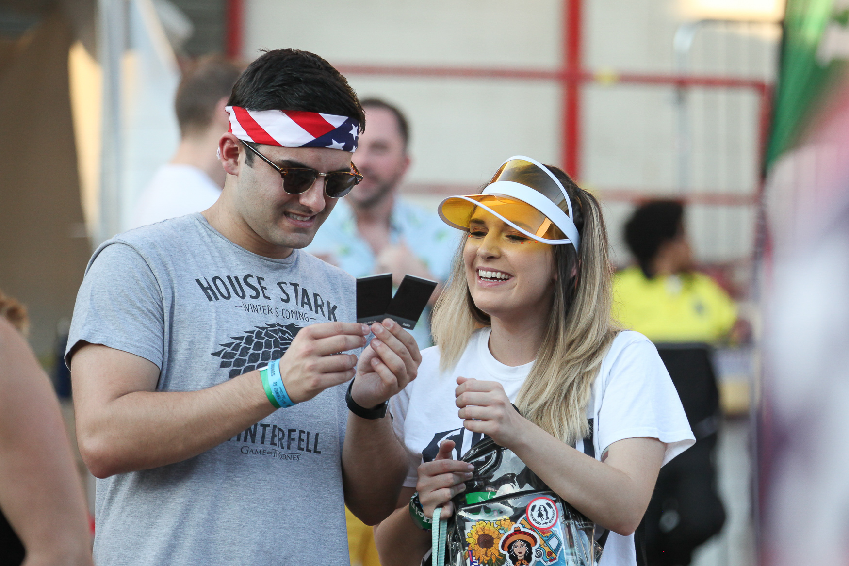 This visor is a fun, easy addition to a festival look.{ } (Amanda Andrade-Rhoades/DC Refined)