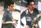 This combination of images released by Interpol and displayed by Malaysian police during a news conference in Sepang, Malaysia, on Tuesday, March 11, 2014, shows an Iranian identified by Interpol as Pouria Nour Mohammad Mehrdad, who Malaysian authorities say is 19, although Interpol's information indicated an age of 18, left, and 29-year-old Iranian Delavar Seyedmohammaderza. The men boarded the now missing Malaysia Airlines jet MH370 with stolen passports. (AP Photo/Interpol)