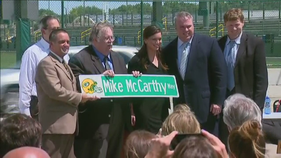 Thumbnail for Mike McCarthy Way street ceremony video