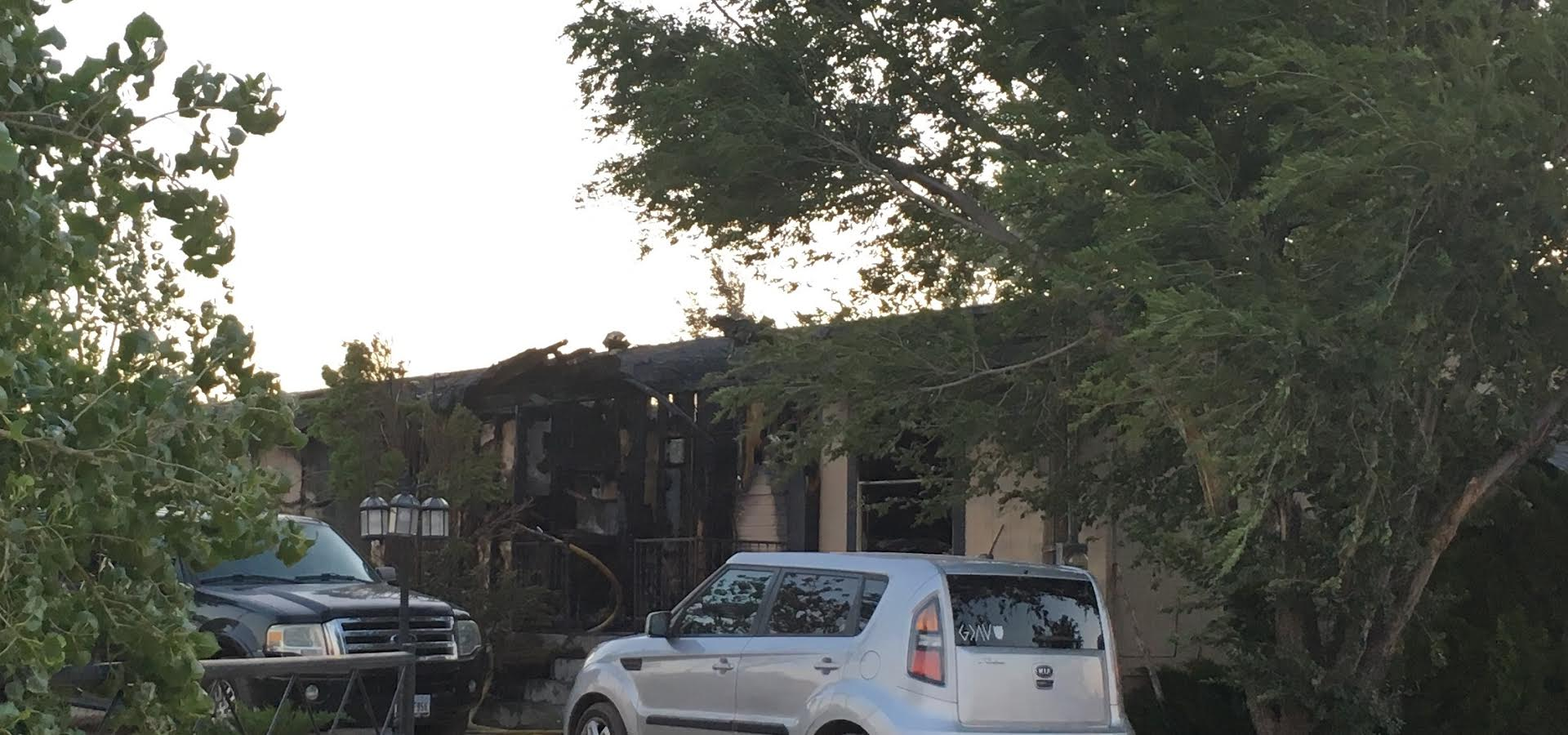 Aftermath of the trailer fire. (ABC 7 Amarillo - Nataziah Gipson)