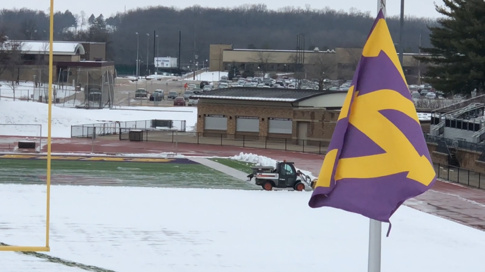 Inside the Storm: Removing several inches of snow from Illinois football field