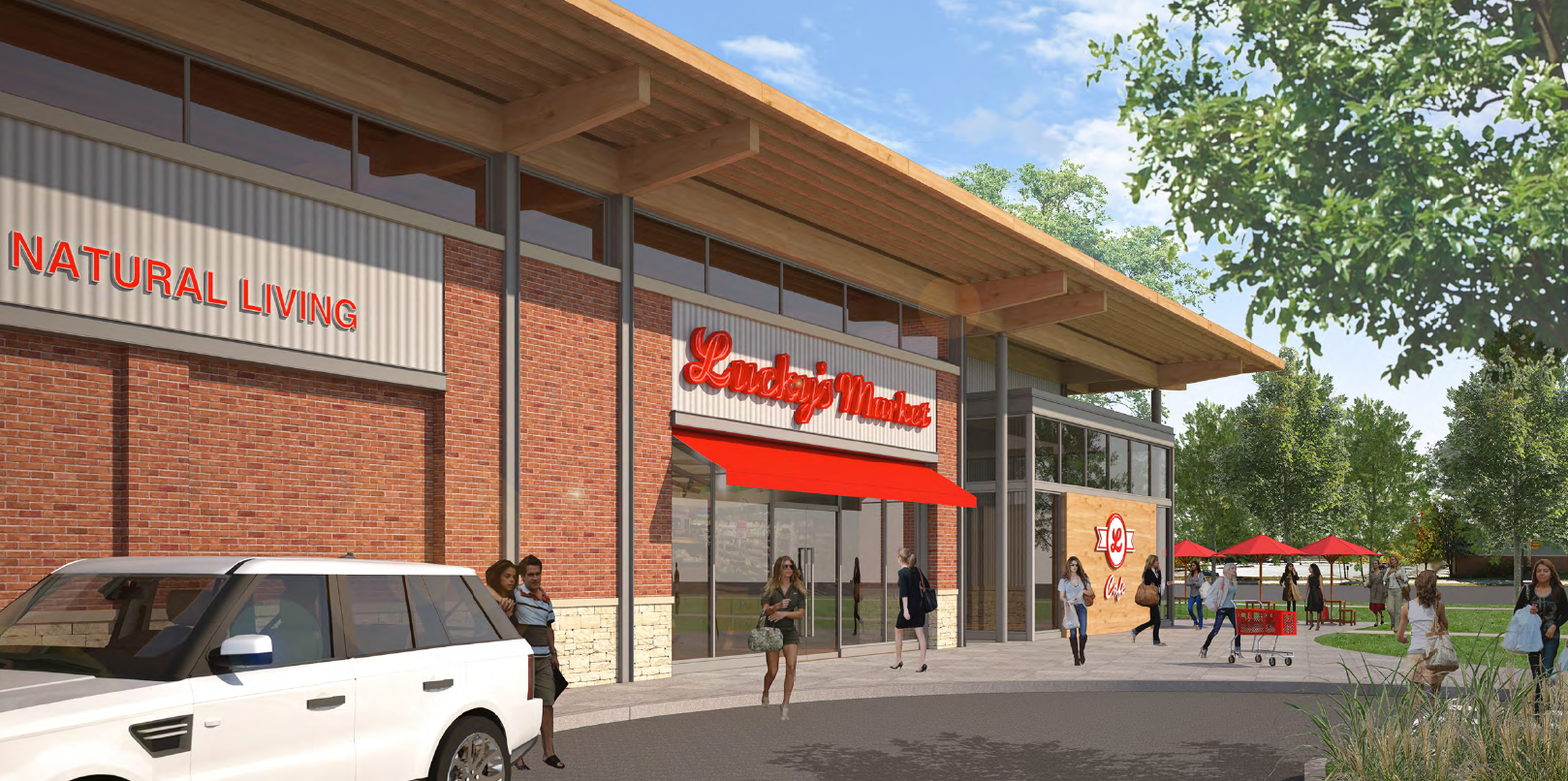 Rendering of the Lucky's Market in Missoula set to open May 2, 2018. (Credit: Lucky's Market)