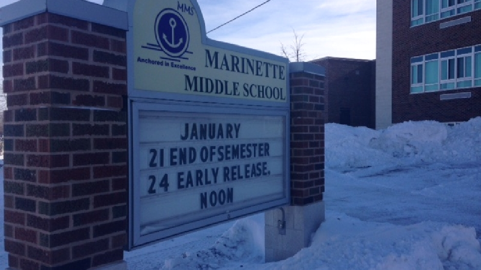 Marinette Middle School is seen, Jan. 31, 2014. (WLUK/Gabrielle Mays)