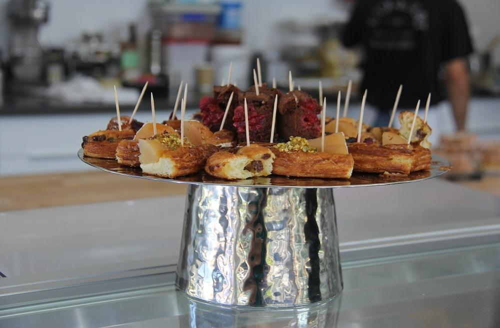Ines Patisserie recently moved to Capitol Hill from Madison Valley. The small bakery transports you to France. This is a generous platter of samples they offer for you to try. (Photo by Jenny Kuglin / Seattle Refined)