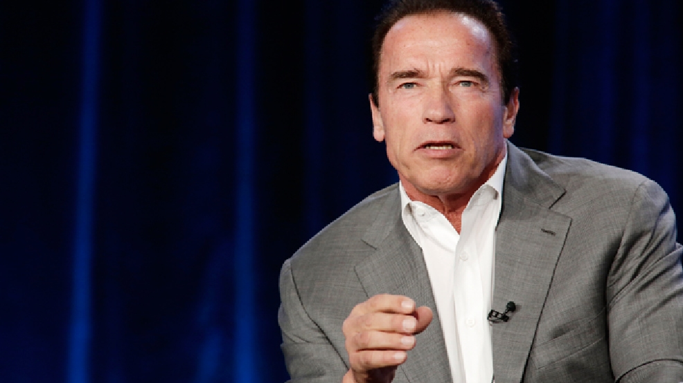 Executive Producer/Correspondent Arnold Schwarzenegger seen at Showtime's 2014 Winter TCA, on Thursday, Jan. 16, 2014 in Pasadena, Calif. (Photo by Eric Charbonneau/Invision for Showtime/AP Images)