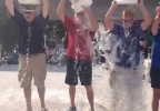 Appleton, De Pere, and Manitowoc mayors took part in the ice bucket challenge for ALS Saturday.