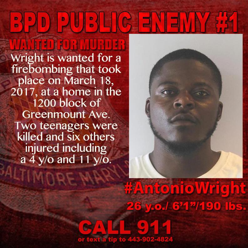 Antonio Wright, Public Enemy No. 1, wanted in double fatal firebombing, turns himself in (Courtesy of ATF)