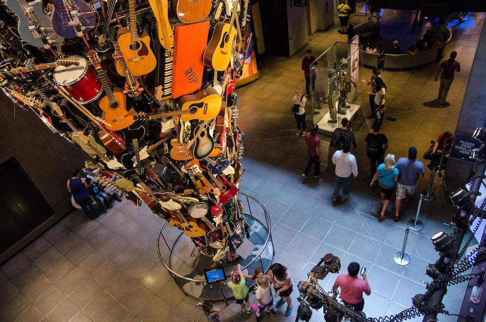 The Museum of Pop Culture guitar tower. (Photo courtesy of MoPOP/Brady Nelson)