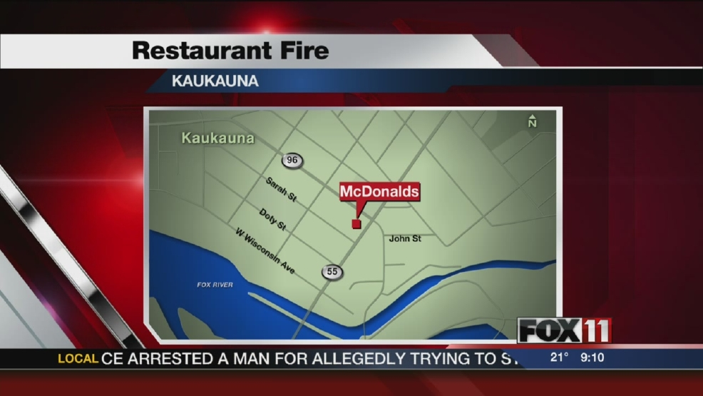 Grease Fire put out at Kaukauna McDonald's.