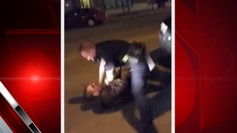 This still frame is taken from a cellphone video of an incident between a Green Bay police officer and a citizen, April 18, 2014.