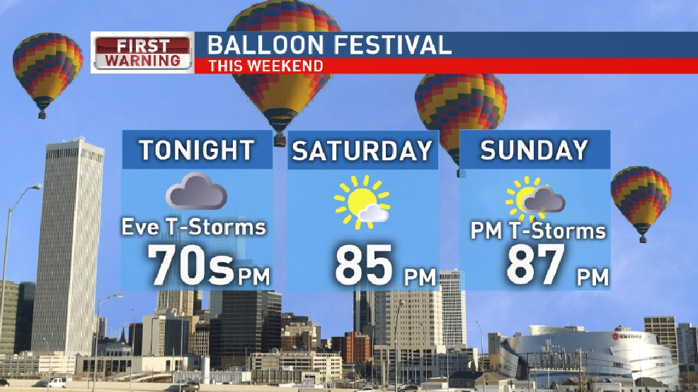 Memorial Day Weekend Forecast: Balloon Festival and Rocklahoma