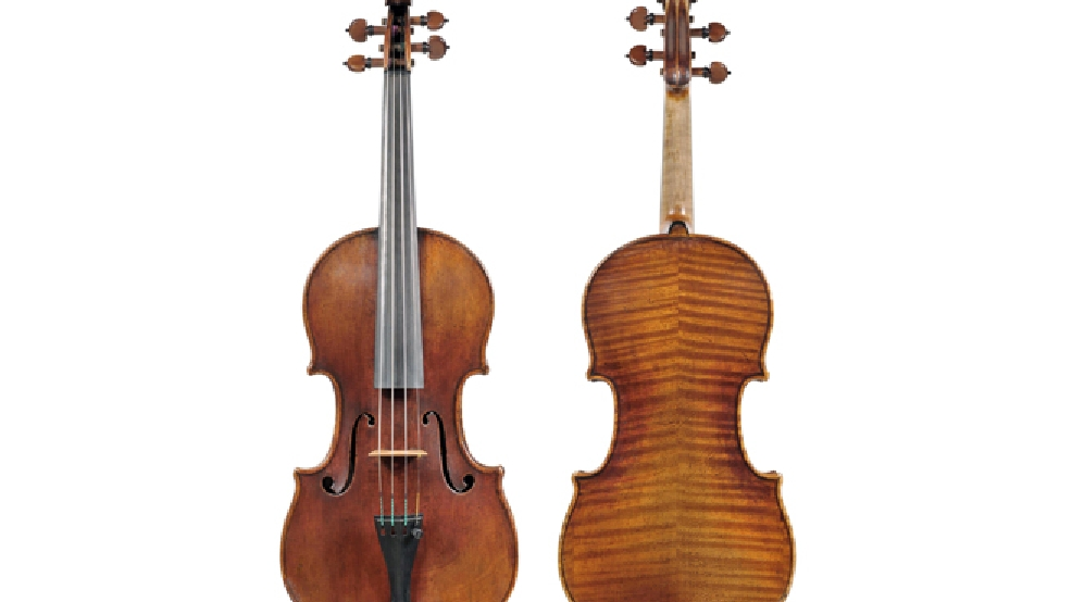 In this undated photo provided by the Milwaukee Symphony Orchestra is the 300-year-old Stradivarius violin that was stolen from MSO concertmaster Frank Almond. (AP Photo/Milwaukee Symphony Orchestra)
