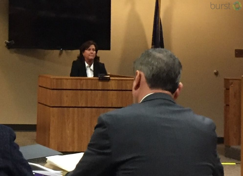 The state's top doctor was back in a Flint courtroom Tuesday for her preliminary exam in connection with the Flint water crisis. (Photo: WEYI/WSMH)