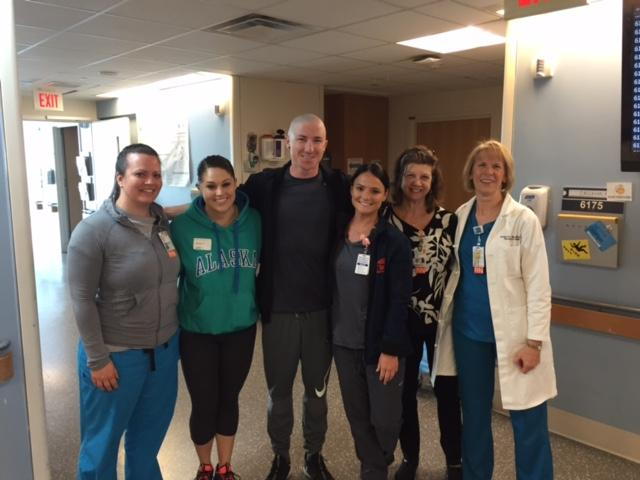 Drew with the medical staff at UVA (Callahan family)