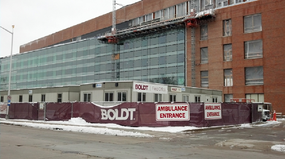 The Boldt Company is working on the renovations to St. Elizabeth Hospital, Monday, April 14, 2014. (WLUK/Eric Peterson)