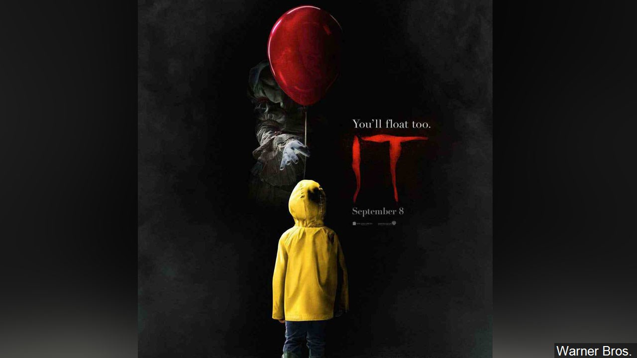 "Movie poster for ""It"" (Warner Bros.)"