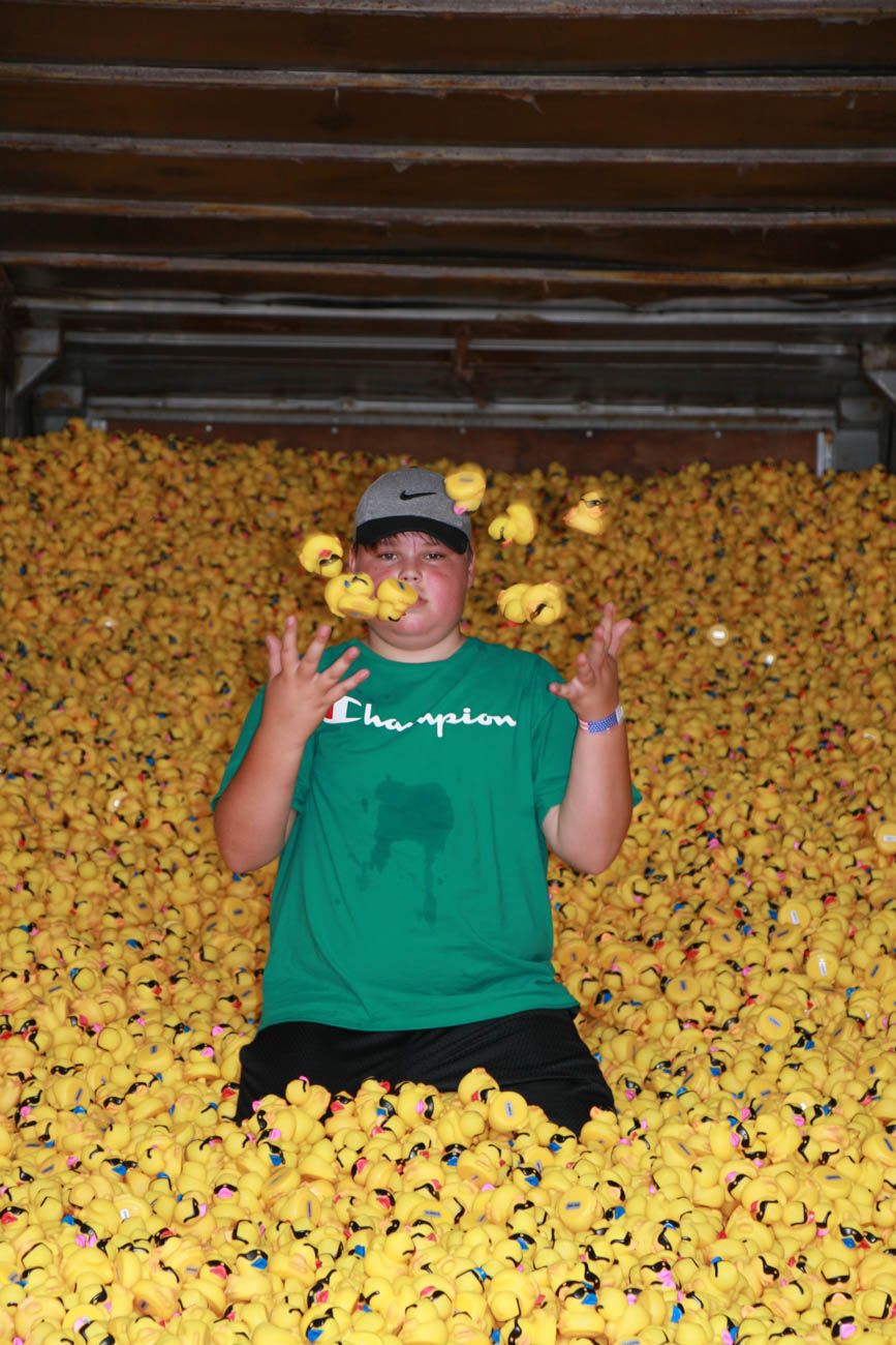 <p>The annual Rubber Duck Regatta also took place Sunday. Over 100,000 rubber ducks were released into the river for a lucky few to be plucked, awarding prizes to whomever bought the selected ducks. Proceeds benefited the Freestore Foodbank. / Image: Dr. Richard Sanders // Published: 9.2.19</p>