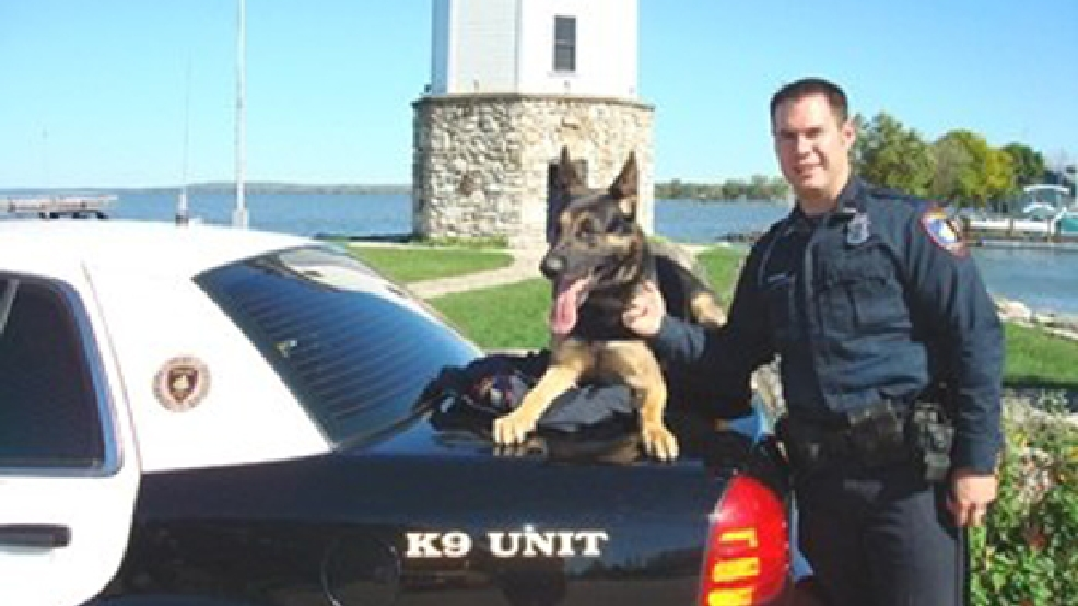 Officer Ryan Williams and K-9 Grendel (Fond du Lac Police Dept.)