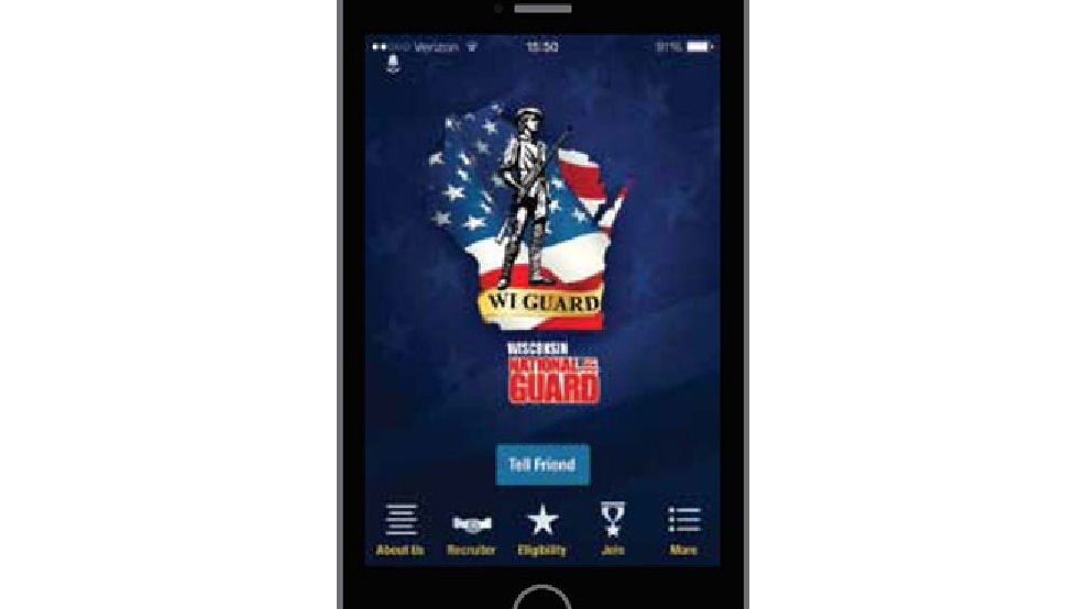 Rendering of the Wisconsin Army National Guard smartphone app. (Wisconsin National Guard)