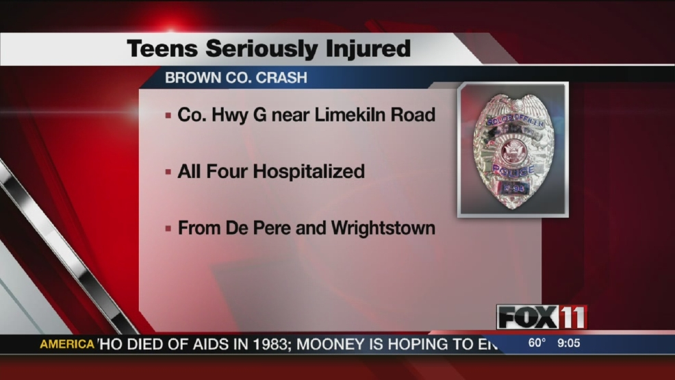 Four Teens Injured in Crash