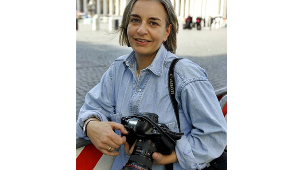 This April 7, 2005 photo shows AP photographer Anja Niedringhaus in Rome. Niedringhaus, 48, an internationally acclaimed German photographer, was killed and an AP reporter was wounded on Friday, April 4, 2014 when an Afghan policeman opened fire while they were sitting in their car in eastern Afghanistan. (AP Photo/Peter Dejong)