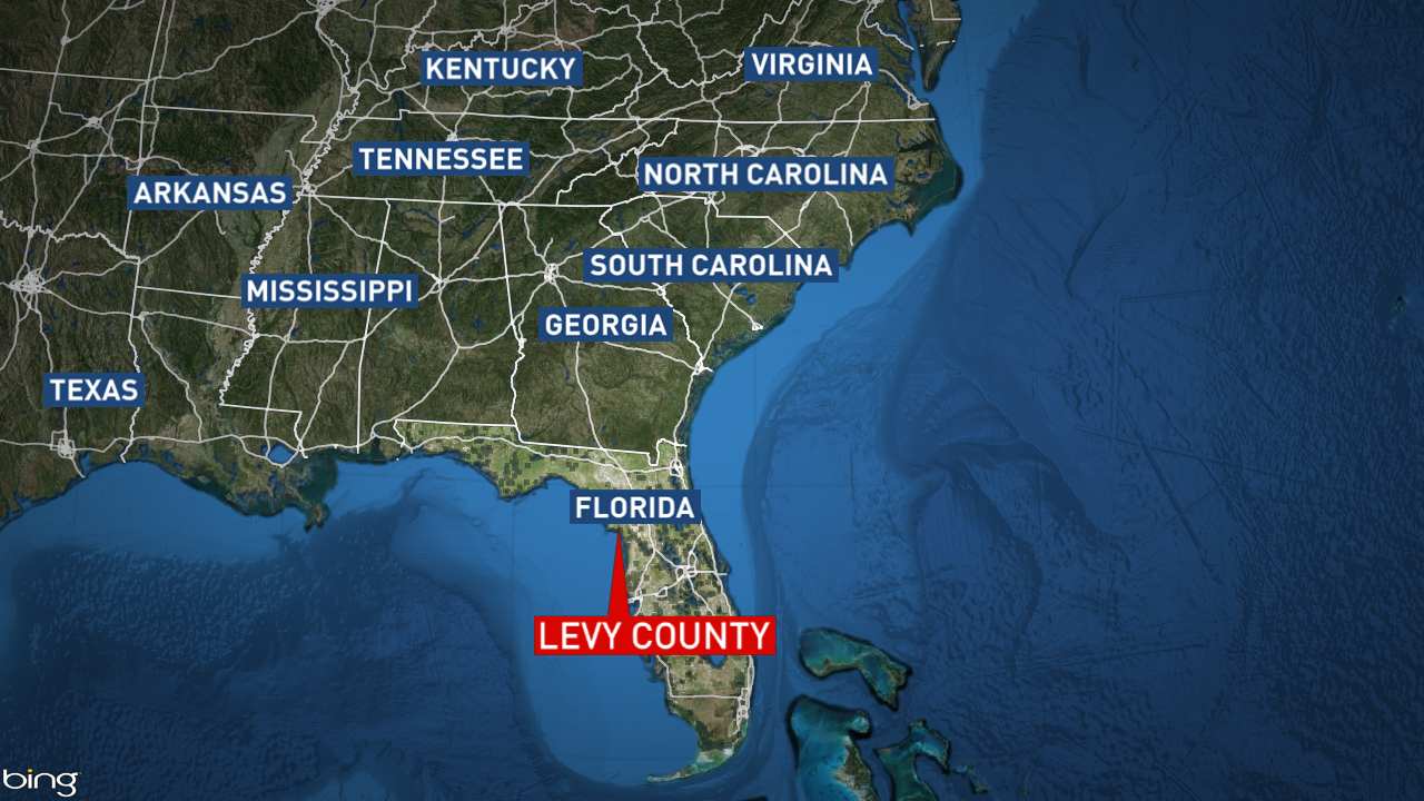 Police say Tricia Freeman's remains were located in Levy County, Fla. (Bing Map)