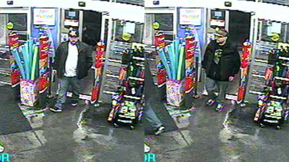This composite image shows two suspects in the theft of a donation jar from Walgreens on S. Koeller St. in Oshkosh, May 1, 2014. (Oshkosh Police Dept.)